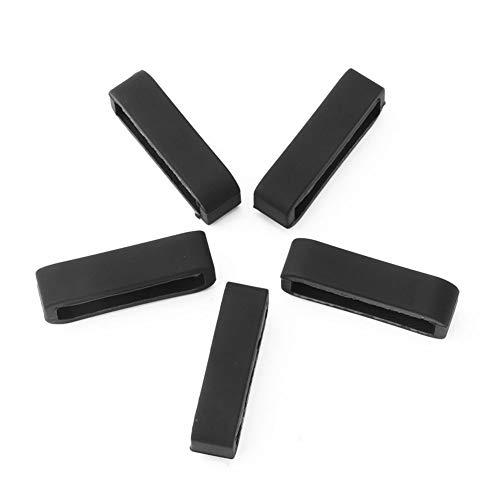 Ver hebillas de silicona, hebillas de correa de reloj con soporte de seguridad de bucle, para reloj de pulsera 235 Garmin 5S 5X Fenix5