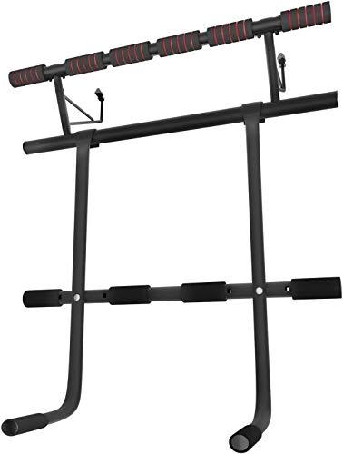 Sportstech Einzigartiges Kombi-Paket! 4in1 Klimmzugstange inkl Dip Bar & Power Ropes, klappbare Türreck KS500, sichere Türrahmen Montage zu Hause ohne Schrauben, Pull Up Bar für Crossfit inkl eBook
