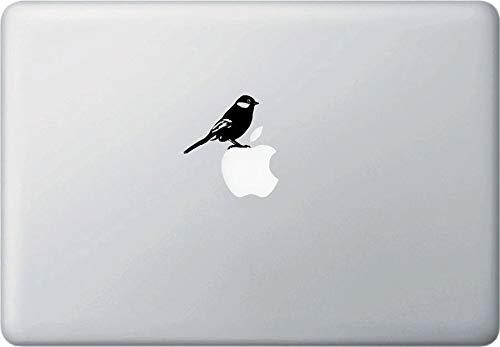 Wall Art MB - Vogel Staand - Nieuw-Zeeland Tomtit - Laptop Decal -2015(2