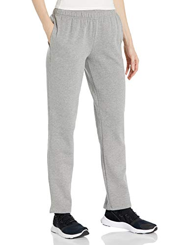 Starter Women's Open-Bottom Sweatpants with Pockets, Amazon Exclusive, Vapor Grey Heather, Extra Small