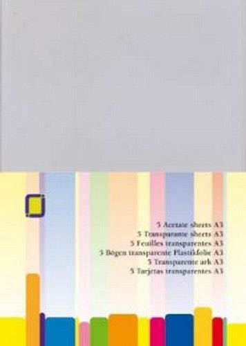 Acetat-folie A3 tape, meerkleurig, verpakking van 5 stuks