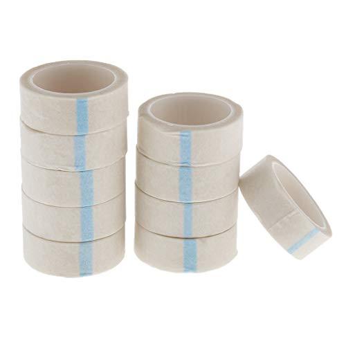 SM SunniMix 10x Professional Cils Lash Extension Papier Micropore Médical, Rouleaux de Ruban Adhésif