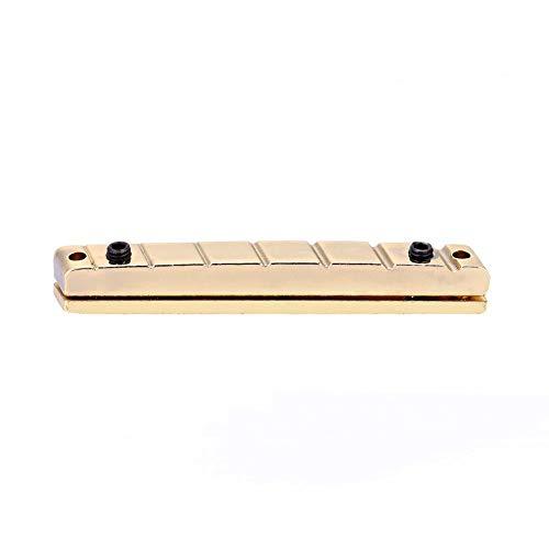 Fafeims Guitar Bridge Nuts, 7 String Multiscale Golden Guitar Bridge Nut E-Gitarren Ersatzzubehör Messing.