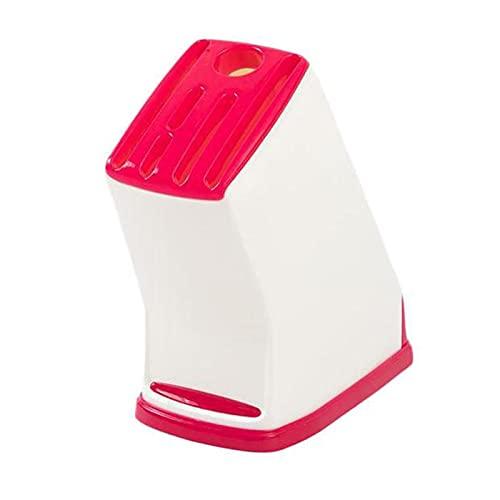 TAOMIAO Estante de la Cocina, Desmontable, Soporte de Cuchillo de plástico de Cocina, Estante de Almacenamiento de Cuchillo Multifuncional, Estante de Cuchillo de Cocina de Drenaje, 3pc,Rojo