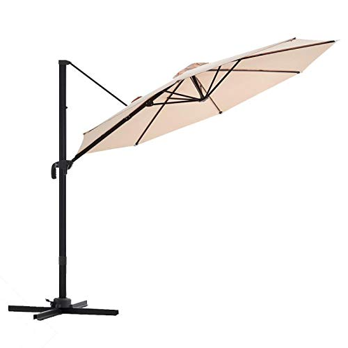 wikiwiki Offset Cantilever Umbrella 10ft Patio...