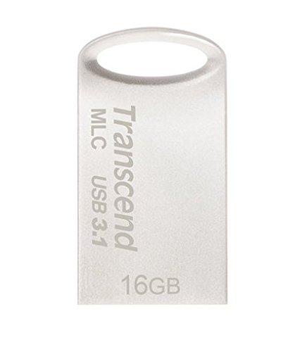 Transcend USBメモリ MLC採用 16GB USB3.1 & USB 3.0 キャップレス シルバー 耐衝撃 防滴 防塵 2年保証 TS1...