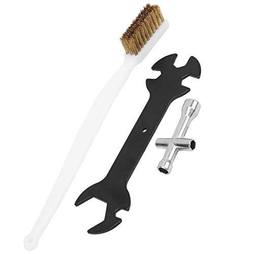 WanRomJun 3Pcs/Set 3D Printer Cleaning Tool Set Multifunction Wrench + Mini Cross Socket + Nozzle Brush Printer Cleaning Tool Set