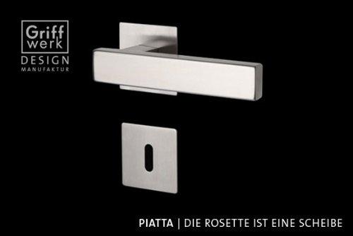 FRASCIO Türdrücker / Türbeschlag - CUBICO PIATTA - Edelstahl - BB-Rosettengarnitur