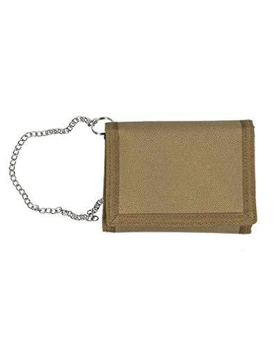 Mil-Tec Portefeuille d'extérieur avec chaîne de sécurité (9 x 13 cm/Coyote)