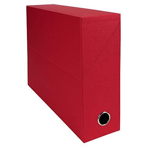 Exacompta 89525E opbergdoos, geweven, 9 cm, rood