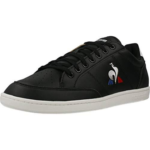Le Coq Sportif Herren Court Clay Sneaker, Schwarz/Optisch Weiß, 42 EU