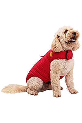Mountain Warehouse Dog Padded Water Resistant Jacket - Lightweight - Warm Clothing for Pets at Home Red