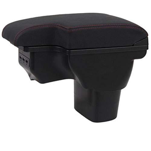 LIGUANGWEN para Nissan Juke Box Box Infiniti ESQ Armres Box Modificación de Coche Modificación de Coche Dedicado ESQ Recargable USB Telescópico Negro Línea Roja (Color : Black Black Line)