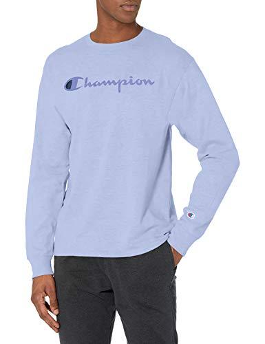 Champion Classic Graphic Long Sleeve tee Camiseta, Tierra Hielo, XXL para Hombre