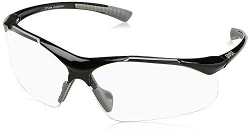 uvex Unisex– Erwachsene, sportstyle 223 Sportbrille, black grey/clear, one size