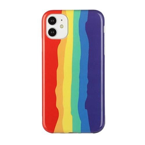 LIUYAWEI Estuches para teléfono con Pulsera de arcoíris para iPhone 12 11 Pro MAX 12mini X XS XR 7 8 6 6S Plus Funda Popular contraportada de Cadena, b, para iPhone 6 o 6s