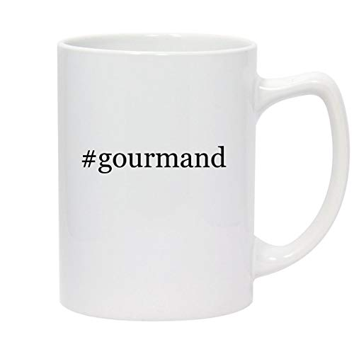 #gourmand - 14oz Hashtag White Ceramic Statesman Coffee Mug