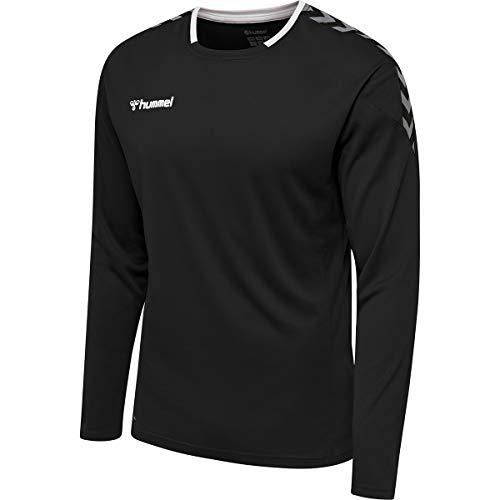 hummel Herren hmlAUTHENTIC Poly Jersey L/S Trikot, Black/White, 2XL