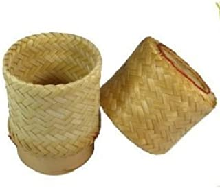 Thai Handmade Sticky Rice Serving Basket small Size