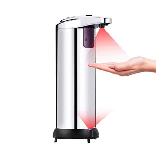 Roestvrijstalen Smart Zeepdispenser, Automatische Foaming Dispenser Voor Vloeibare Zeep, Infrarood Sensor, Waterdicht Basis, Geschikt Voor Kantoor, Keuken, Badkamer, School