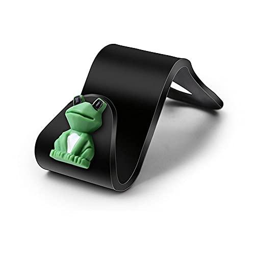 Estilo de dibujos animados asiento trasero gancho organizador de almacenamiento colgador para colgar bolso organizador bolsa de almacenamiento de plástico (rana)