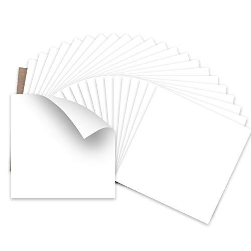 """HTVRONT White HTV Heat Transfer Vinyl Bundle: 24 Pack 12""""x12"""" White Iron on Vinyl Sheets for T-Shirt (1 Teflon Sheet Included), White PU HTV Vinyl Easy to Cut & Weed for Heat Vinyl Design"""