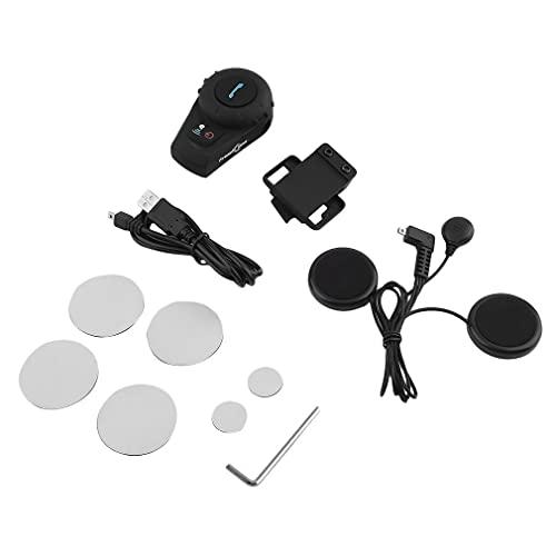 Auriculares con conexión inalámbrica para interfono de Motocicleta con Auricular Suave Negro