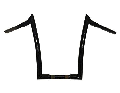 Dominator Industries 1 1/4 inch Meathook Monkey Ape Hanger Handlebar, 14 inch Rise, Gloss Black...