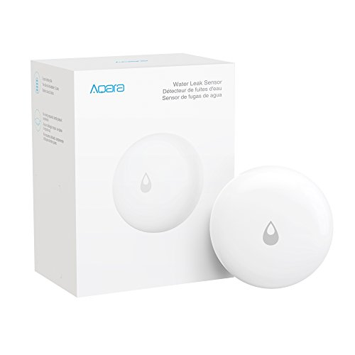 Aqara Water Leak Sensor, REQUIRES AQARA HUB, Wireless Water Leak Detector, Wireless Mini Flood Detector for Alarm System and Smart Home Automation, Water Sensor Alarm for Kitchen Bathroom Basement