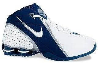 Nike Women s Shox Revolution Basketball Shoes White Black 311233 113 Size 7 e576eae3d