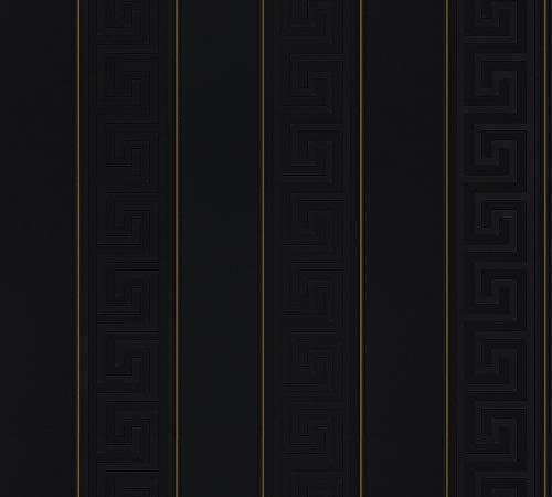 Versace Tapete - Material: Kompaktvinyl auf Vlies in schwarz, gold (Nr. 1504-3059)