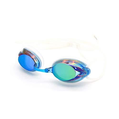 JRXyDfxn Gafas de natación, Espejo de Capacitación Gafas, contra la Niebla UV Protección ningún escaparse con el Caso la protección para Hombres, Mujeres y Juventud