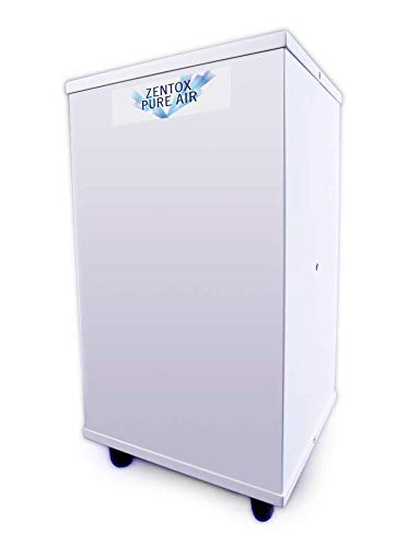 Zentox Pure Air 200 Hospital Grade Air Sanitizer Destroys Viruses, Bacteria, Mold Spores, Allergens, Eliminates Odors, Scientifically Proven, Covers 1,200 Sq. Ft.