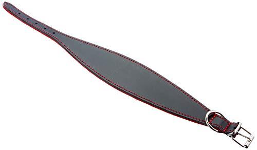 Arppe 2154014501 Collar Galgo Cuero Superfelt, Negro y Rojo