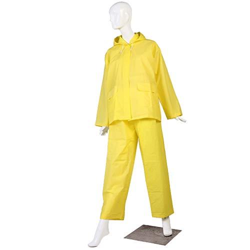 Waterbestendig Regenjas L/XL buiten rijden regenjas volwassen regenbroek ingesteld EVA poncho Mooi (Color : Yellow, Size : XL)