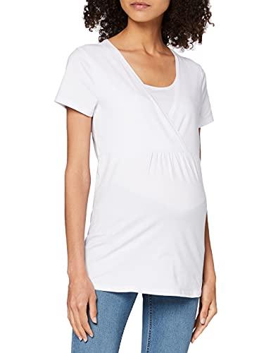 Esprit Maternity Nursing SS T-Shirt de Maternité, Blanc (White 100), 38 (Taille Fabricant: Small) Femme