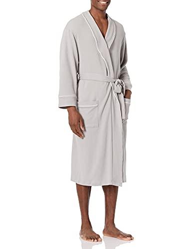 Amazon Essentials Men's Waffle Shawl Robe, -Light...