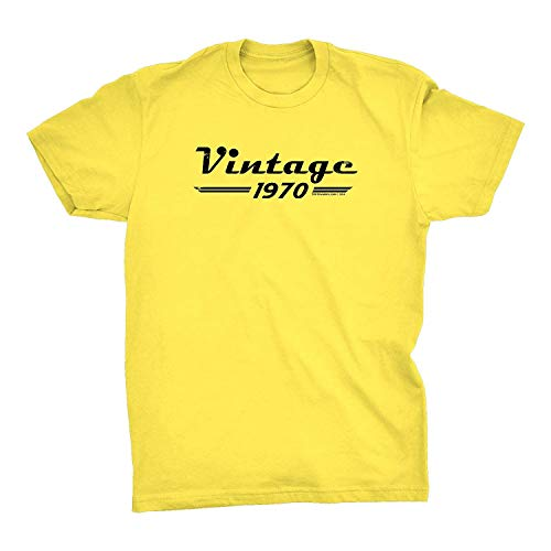 ingshihuainingxianchuangju Camisa 49a Regalo de cumpleaños - Retro - Vintage 1969 Envejecido a la perfección, Pequeño, Amarillo