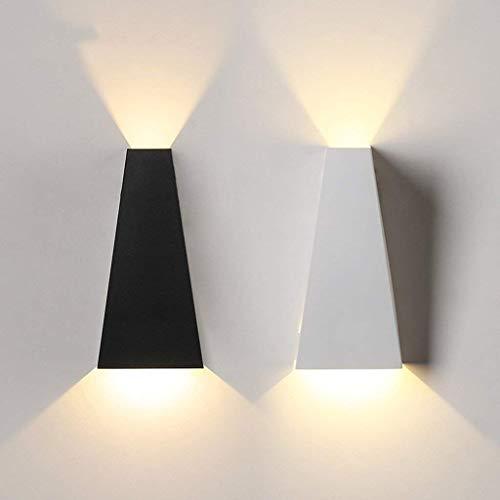 LED wandlamp woonkamer decoratieve lamp creatieve ladder trapwandlamp nachtwandlamp (warm licht) (kleur: zwart)