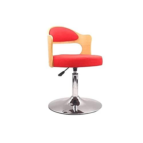 Qks con taburetes de Bar con Respaldo Taburetes de Bar giratorios Silla de Bar Vintage Silla de mostrador Ajustable en Altura Adecuada para Trabajo de Cocina Silla giratoria de Oficina,Rojo