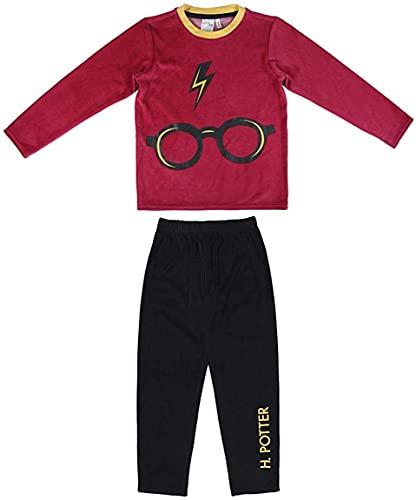 HARRY POTTER Pijamas, Terciopelo Algodón Súper Suave, Conjunto de Dos Piezas para Niños, Pijamas para Niños y Niñas, Talla 8 Años