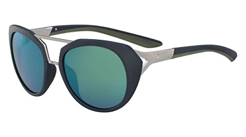 Nike Damen Flex Motion R Ev1015 Sonnenbrille, Grau (Mt Mid Tea W/Gry Mel D Grn), 54