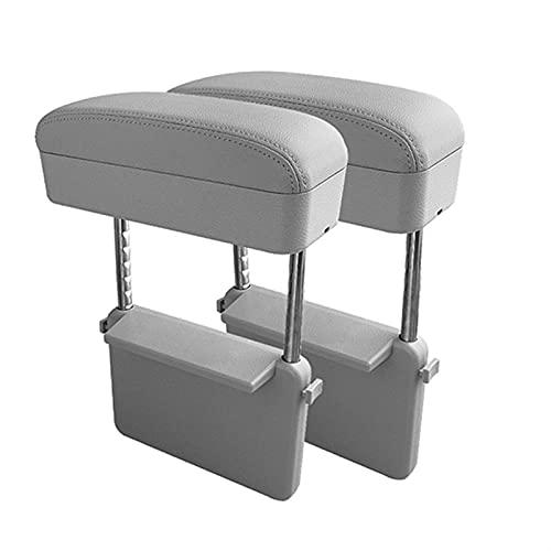HYCQ Universal Soporte De Codo De Caja De Reposabrazos Coche Ajustable Consola Central del Coche Reposabrazos Car Styling Auto Seat Gap Organizador Reposabrazos Caja Central Reposabrazos