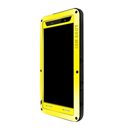 Gazechimp LOVEMEI Water/Dirt/Shock 3Proofs Gorilla Glass Hybrid Case Carcasa Exterior para Xperia Z4 - Amarillo, para Xperia Z5