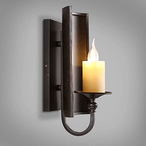 Rétro industriel Vent Corridor Escalier Applique Fer Unique En-tête Lampe de chevet Noir LED Source de Lumière