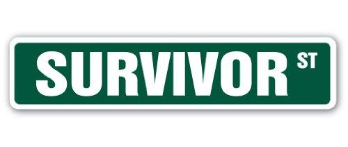 SURVIVOR Street Sign TV show contestant...
