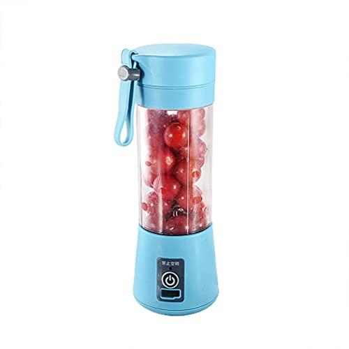 Yusat Exprimidor eléctrico portátil mezclador de frutas taza para batido jugo de frutas batidos de leche 400 ml