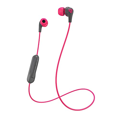 JLab Audio JBuds Pro Bluetooth Wireless Signature Earbuds | Titanium 10mm Drivers | 6-Hour Battery Life | Music Controls | Noise Isolation | Bluetooth 4.1 Extra Gel Tips and Cush Fins | Graphite/Pink