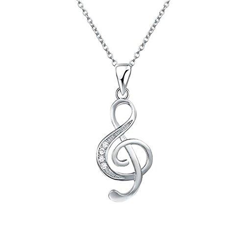 Silent Passion Kettenanhänger Notenschlüssel, 925 Silber