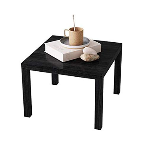 YUMEIGE-SIDE TABLE Square Sofa Side Table, Coffee Side Table, Laptop Desk, Negotiation Coffee Table, 2 Sizes (Color : Black, Size : 17.71 * 17.71 * 17.71in)